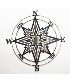 "Compass Rose 18"" Wall Art"