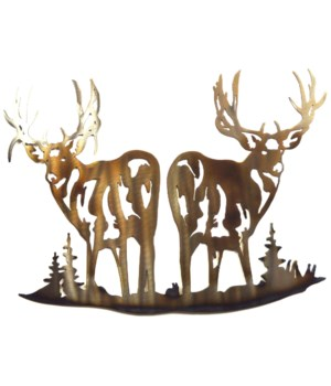 "Deer back 2 back Wall Art 18"" Wall Art"