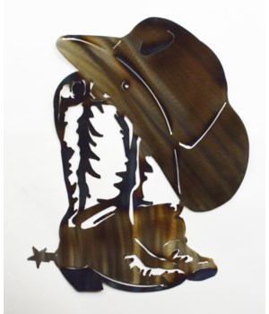 "BOOTS AND HAT 18"" Wall Art"