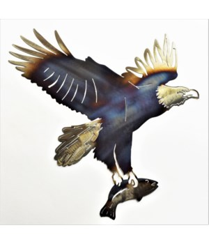 "EAGLE WITH FISH 18"" Wall Art"