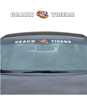 WINDSHIELD DECAL - LSU TIGERS