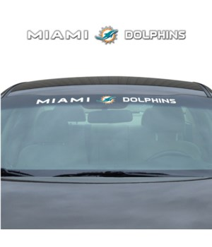 WINDSHIELD DECAL - MIA DOLPHINS