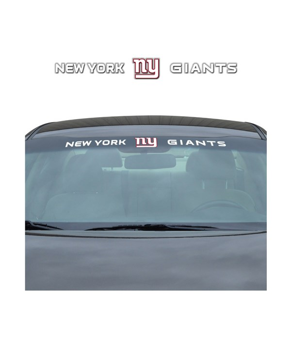WINDSHIELD DECAL - NY GIANTS
