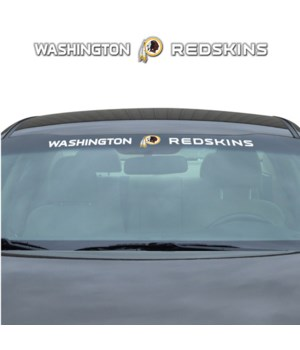 WINDSHIELD DECAL - WASH REDSKINS