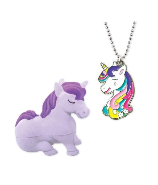Unicorn Pendant w/Box 4PC