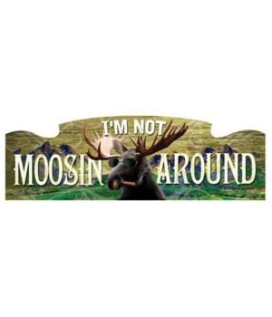 "Moose Sign 23.5"" x 7.5""  6PC"