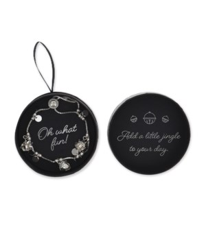 Silver Jingle Bell Bracelet 6PC
