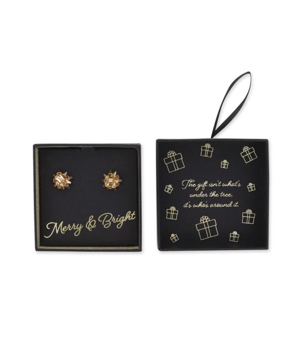 Gold Bow Earrings 6PC