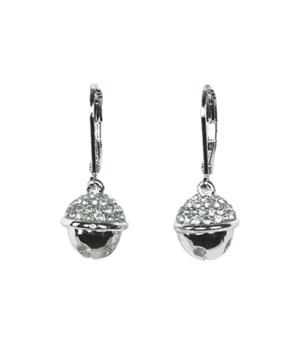 Silver Jingle Bell Earrings 6PC