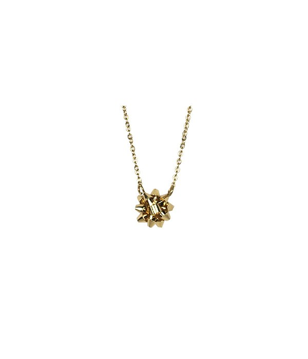 Gold Bow Necklace 6PC