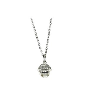 Silver Jingle Bell Necklace 6PC