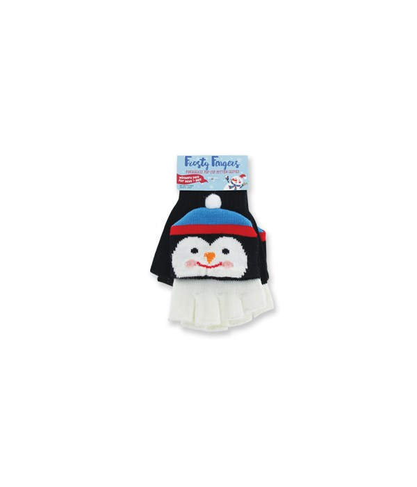 Fingerless Pop-Top Mitten Gloves 24PC