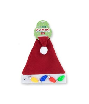 X-mas Jumbo Light-Up Santa Hat 24PC