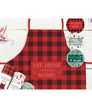 Christmas Farmhouse Collection Apron 9PC