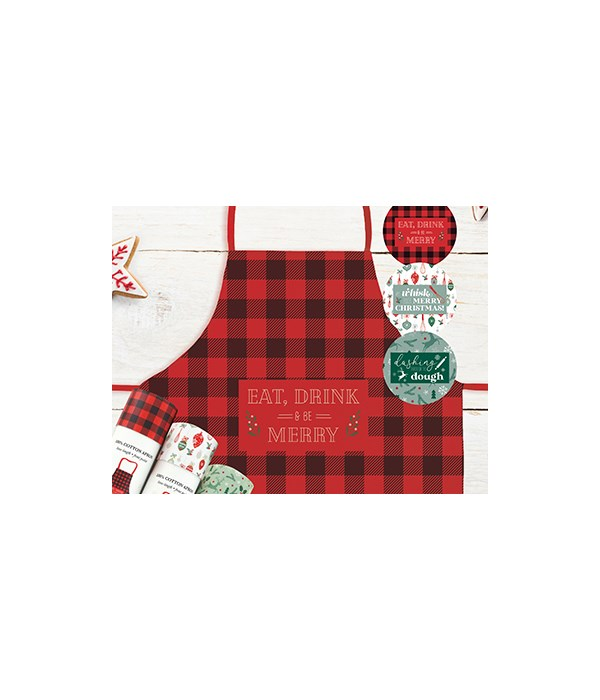 *Christmas Farmhouse Collection Apron 9PC
