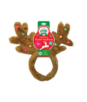Plush Lite Up Reindeer Headband 24PC