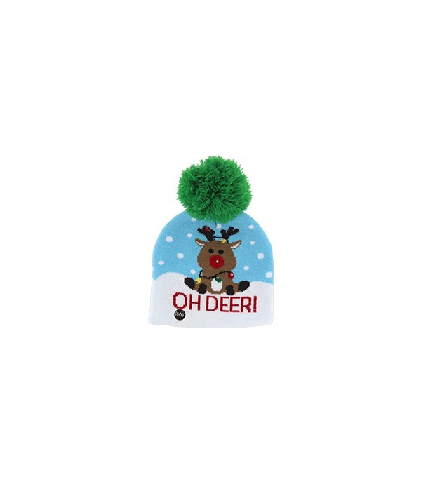 Kids Flashing Holiday Knitted Hat 24PC