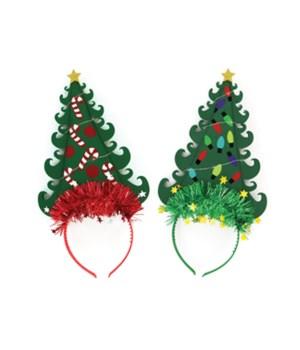 Light Up Christmas Tree Headband 24PC