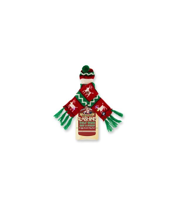 Flashing Holiday Knitted Scarves 12PC