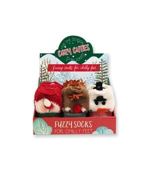 Cozy Cuties Fuzzy Socks 24PC