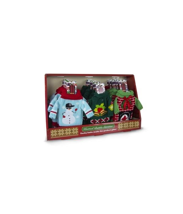 Knitted Bottle Sweaters 24PC