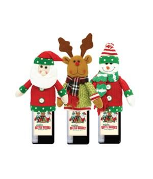 Christmas Plush Bottle Buddies 24PC