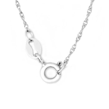 """20"""" Sterling Silver Rhodium Plated Rope Chain"""