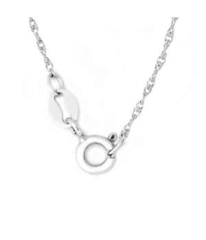 "20"" Sterling Silver Rhodium Plated Rope Chain"