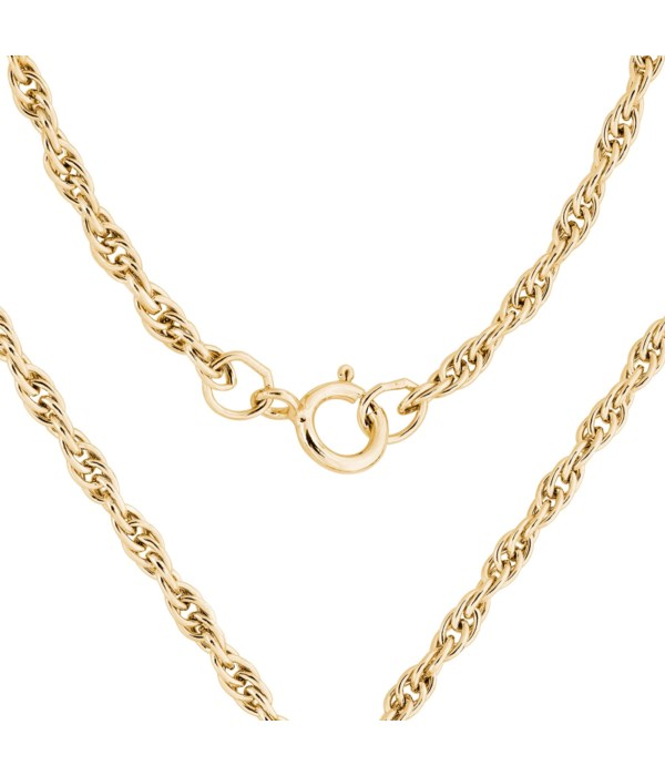 """18"""" 14kt Gold Filled Heavy Rope Chain"""
