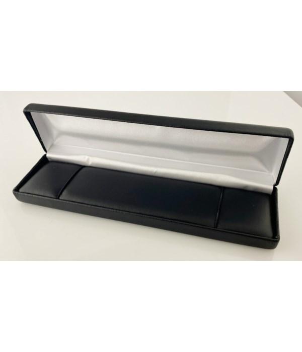 Generic black leatherette bracelet box