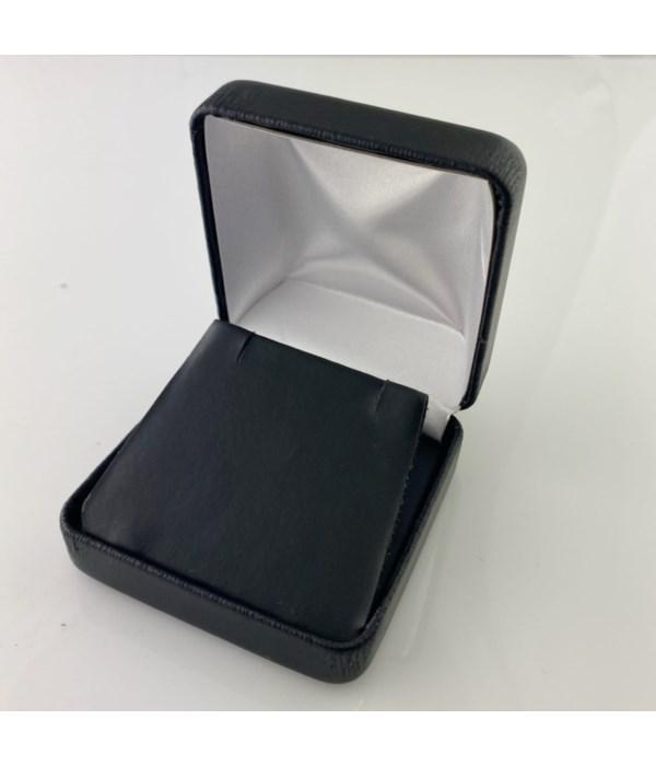 Generic black leatherette pendant/earring box