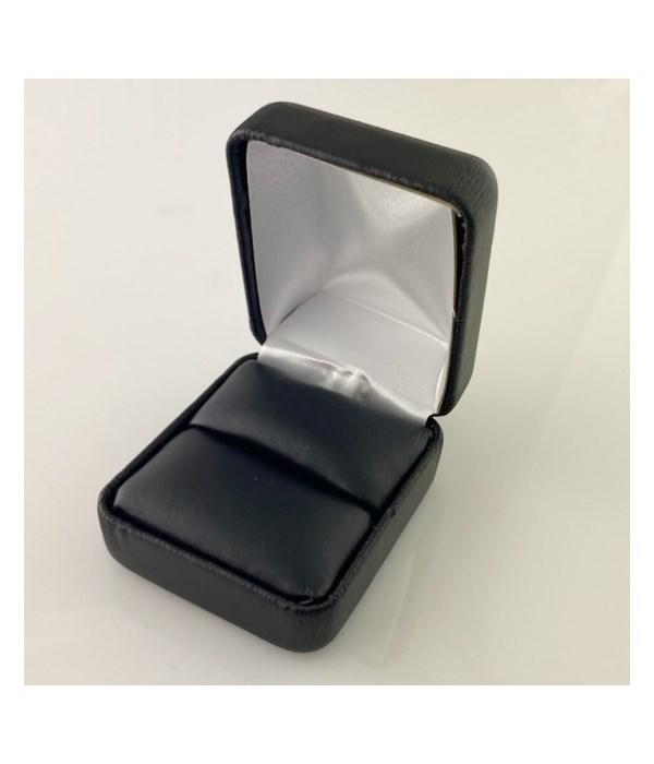 Generic black leatherette ring box