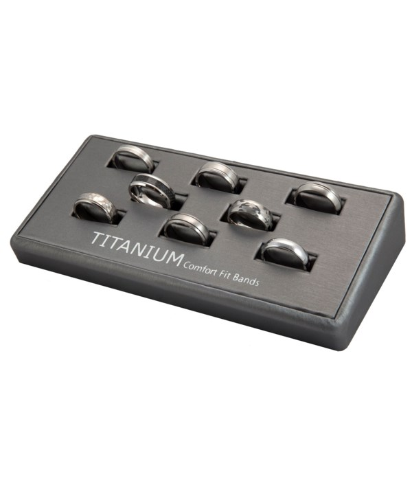 R.Designs 8 piece Titanium band Display