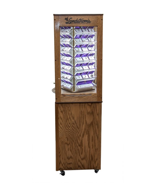 Landstrom's Small Oak Tower Unit with LED lighting