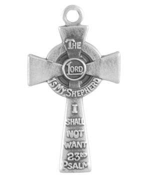 SATIN LORD'S PRAYER CROSS