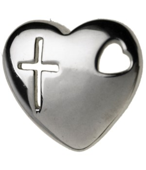 CROSS IN HEART SHAPE