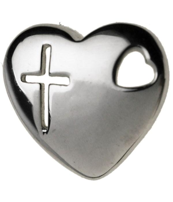 CROSS IN HEART SHAPE