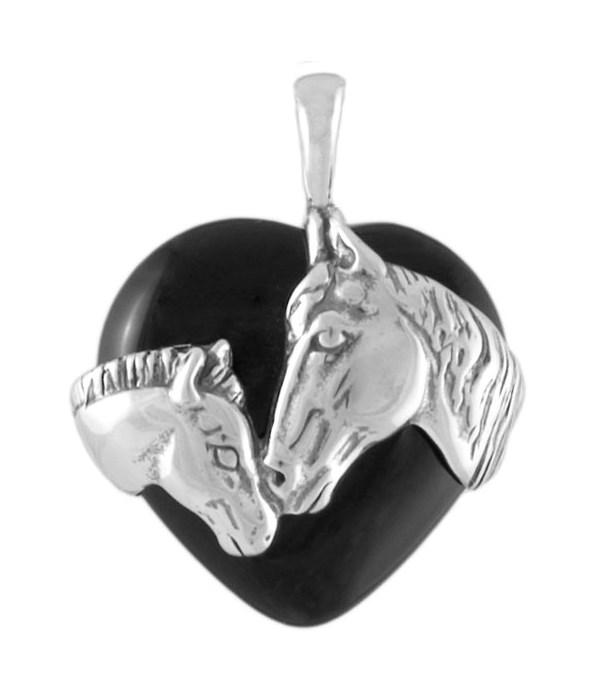 HORSE WRAP ONYX HEART