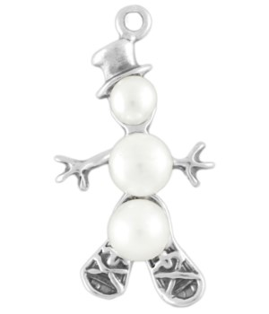 PEARL SNOWMAN WITHSNOW SHOES  FRESH WATER PEARLS