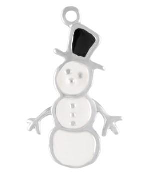 BLACKWHITE ENAMEL SNOWMAN CHM
