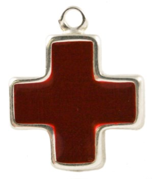 ENAMEL RED CROSS