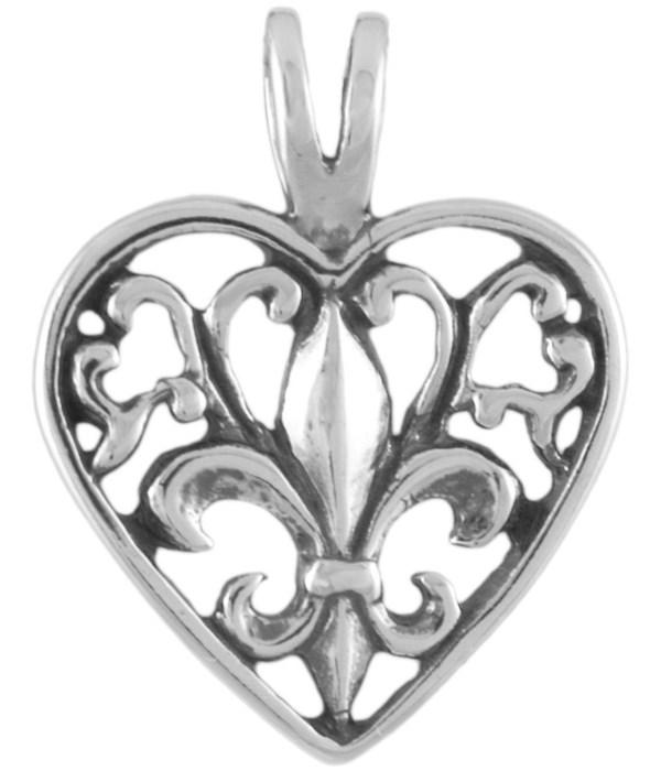 FLEUR-DE-LIS HEART OUTLINE