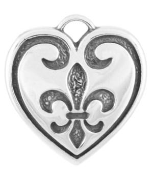 FLEUR-DE-LIS HEART