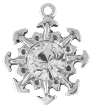 SNOWFLAKE  WITH CLEAR CRYSTAL