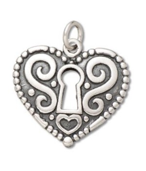 CARVED KEY CENTERED HEART