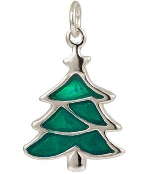 GREEN ENAMEL CHRISTMAS TREE