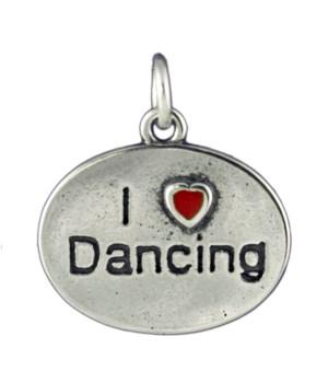 I LOVE DANCING ENAMEL HEART