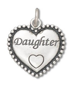BEADED DAUGHTER HEART