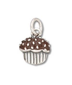 BROWN ENAMEL FROSTED CUPCAKE