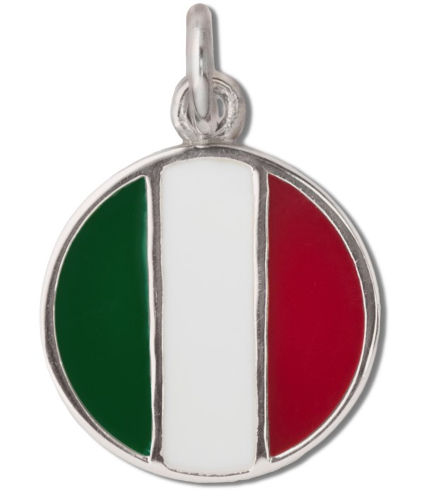ITALY ENAMEL ROUND FLAG